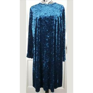 London Times Blue Velvet Dress